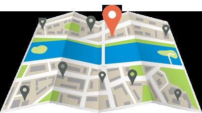 référencement local sur une carte